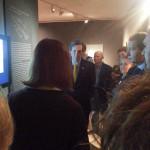 Il sindaco Ignazio Marino è interessato alla postazione gnomonica : schermo PC per simulazione e poster con la dr. Rossini si è cercato di rispondere a tono alle sue precise domande