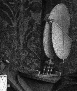 Il 'Torquetum' astronomico  così come risulta rappresentato nel famoso quadro 'Gli Ambasciatori', National Gallery, Londra